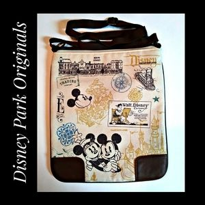 Disney Park Canvas Crossbody Bag Mickey Minnie